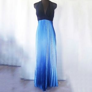 Pleated ombre prom/party dress